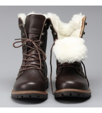 Natural Wool Men Winter Shoes