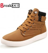 Leather Boots Breathable Men Shoes