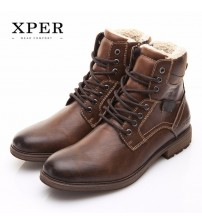 High-Cut Lace-up Warm Men Casual Shoes