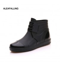 Rubber Ankle Boots Buckle Botas
