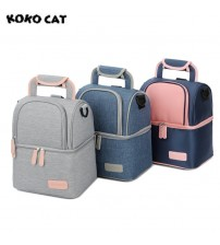 Double Layer Fashion Portable Lunch Bag