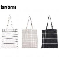 Fashion Plaid Shoulder Tote Handbag