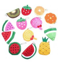 Fruits Plush Coin Purse
