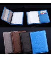 Driver License Bag PU Leather Wallet Case