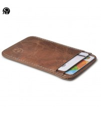100% Real Leather Convenient ID Pocket