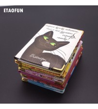 Cartoon Cat Passport Card Holder