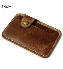 Card Brown Slim Mini Wallet Case