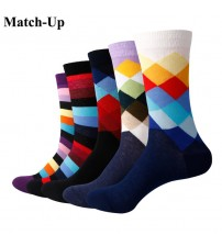 Match-Up Gradient Color Crew Socks (5 pairs / lot )