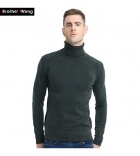 Brother Wang Sweater Turtleneck Slim Pullover