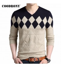 COODRONY Cashmere Wool Sweater Men