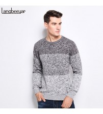O-Neck Slim Fit Winter Pullover 100% Cotton Knitted Sweater