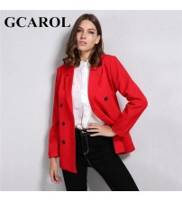 Blazer Double-Breasted Button Notched Collar