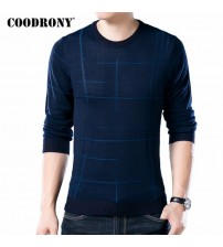 COODRONY Soft Cashmere Sweaters O-Neck Wool Pullovers