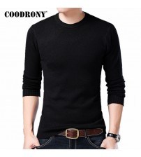 Knitted Wool Sweaters Solid Color Casual O-Neck Pull Homme