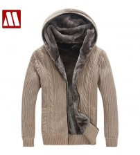 Casual Faux Fur Lining Knitted Sweater