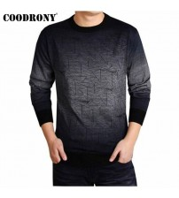COODRONY Cashmere Wool Pullover Men Pull O-Neck Dress