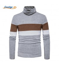 Covrlge  Sweater Spring Autumn Male Turtleneck Pullovers