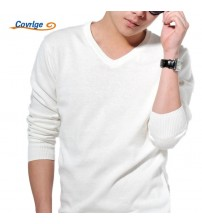 Covrlge Knitted Pullovers Men Long Sleeve Slim Sweaters