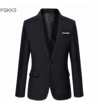 Fashion Slim Fit Casual Solid Color Suits
