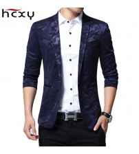 Casual Single Breasted Men Suit Jacket Plus Size