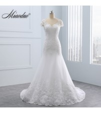 Short Lace Backless Wedding Dresses