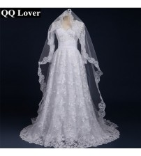 Sexy Long Sleeves Lace Wedding Dress