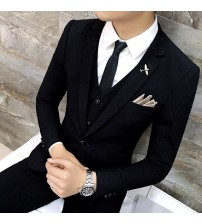3 pieces Mens Formal Costume Homme Wedding Suits