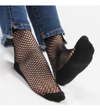 1 Pair Sexy Lace Ankle High Fishnet Socks