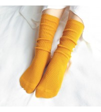 High Socks Loose Solid Colors