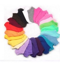 10 Pair Women's Socks Short Candy Color