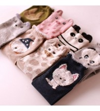 Cute 3d Ears Cartoon Animal Cotton Socks