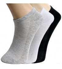 10 Pair Solid Mesh Women's Socks
