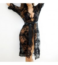 Full Lace Transparent Hollow Out Dress