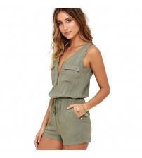 Sexy Sleeveless Bodysuit Jumpsuit