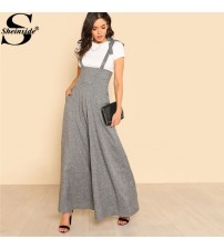 Self Tie Strap Wide Leg Jumpsuit