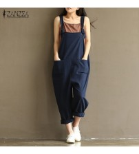 Jumpsuits Sleeveless Backless Loose