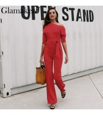 Cold Shoulder Bandage Jumpsuit