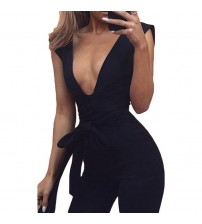 Deep V Fitted Sexy Jumpsuit