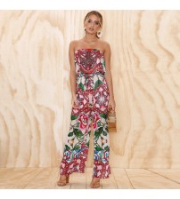 Floral Print Off Shoulder Jumpsuit