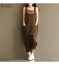 Jumpsuits Casual Vintage Sleeveless