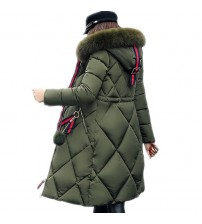 Big Fur Thickened Parka Down Jacket