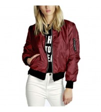 Lady Thin Jackets Stand Collar Slim Fit