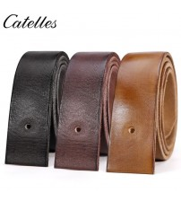 Catelles No Buckle Leather Belt