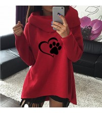 Print Pattern Clothes Women Hoodies