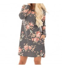 Autumn Floral Printed Dress
