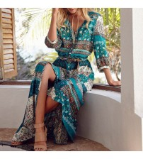 Bohemia V-neck Long Dress