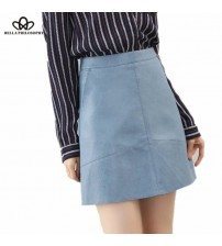 High Waist Skirt PU Faux Leather Skirt