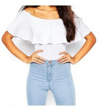 Off Shoulder Sexy Ruffle Bodysuits
