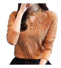 Lace Blouse Long Sleeve