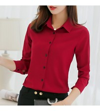Career Shirts Tops Long Sleeve Blouses